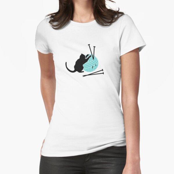 Playfull Cat VRS2 Fitted T-Shirt