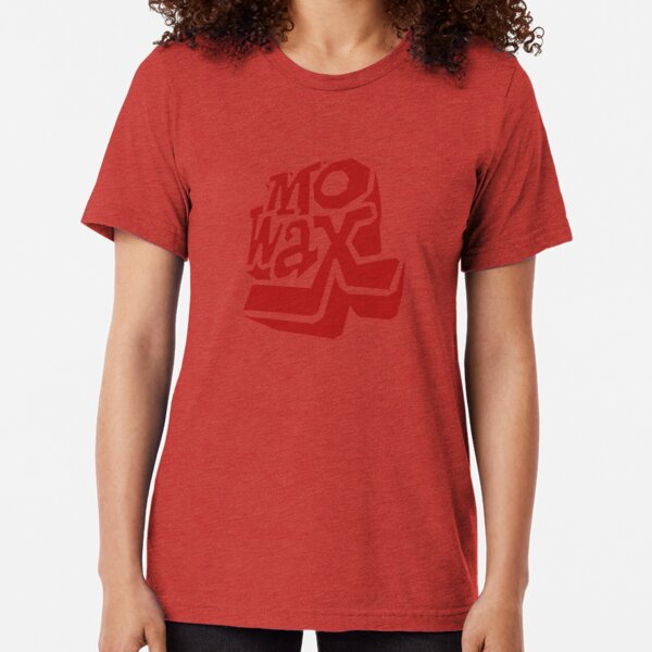 Record Label 3 (red) Tri-blend T-Shirt