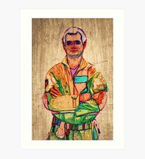 Peter Venkman (timber) Art Print