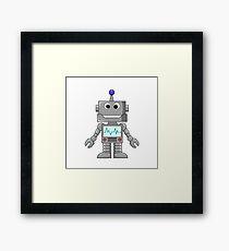 Happy Robot Framed Print