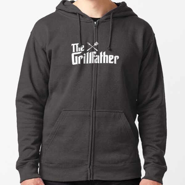 The Grillfather Zipped Hoodie