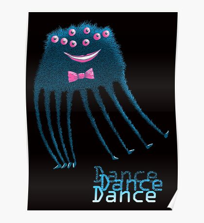 Techno Dance Disco Spider Poster
