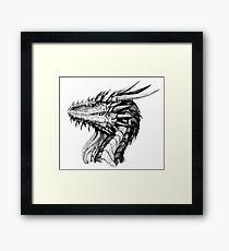 Ink Dragon Framed Print