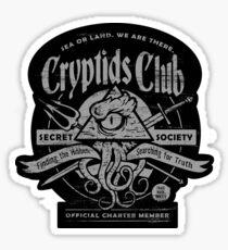 Cryptids Club (Dark Shirt Version) Sticker