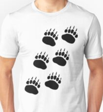 Bear Paw Track Unisex T-Shirt