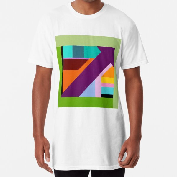 Modern Geometric Designs on everything Long T-Shirt