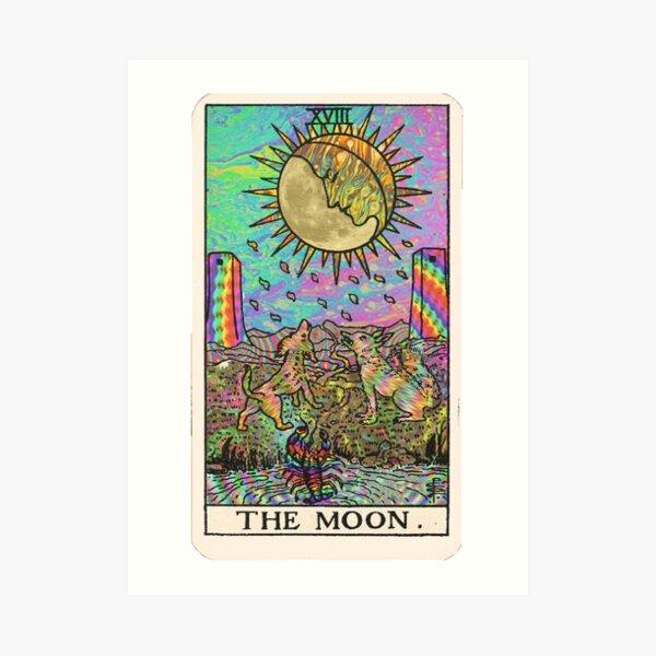 Psychadelic Tarot - Der Mond Kunstdruck