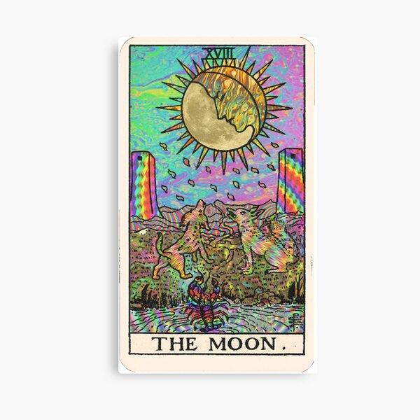 Psychadelic Tarot- The moon Canvas Print