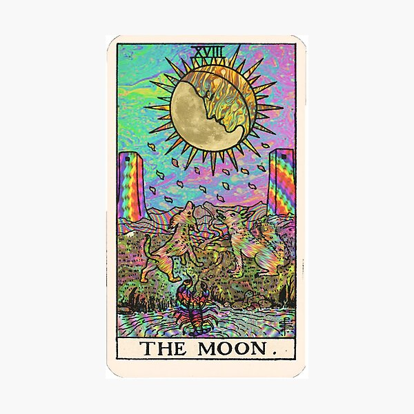 Psychadelic Tarot- The moon Photographic Print