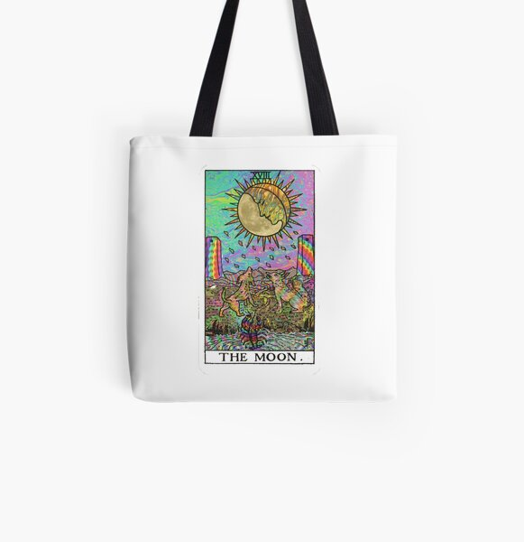 Psychadelic Tarot- The moon All Over Print Tote Bag
