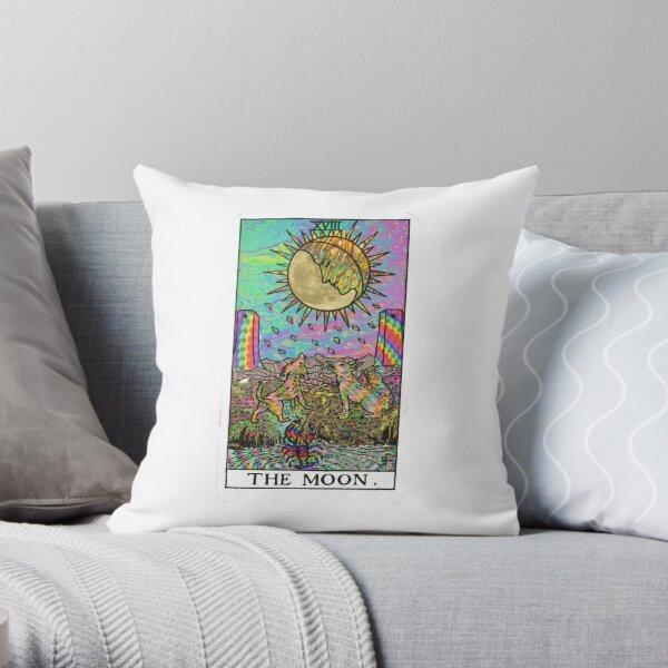 Psychadelic Tarot- The moon Throw Pillow