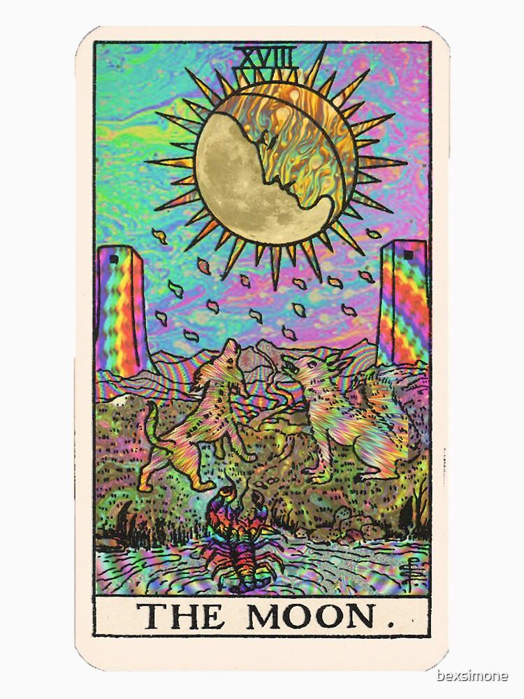 Psychadelic Tarot- The moon by bexsimone