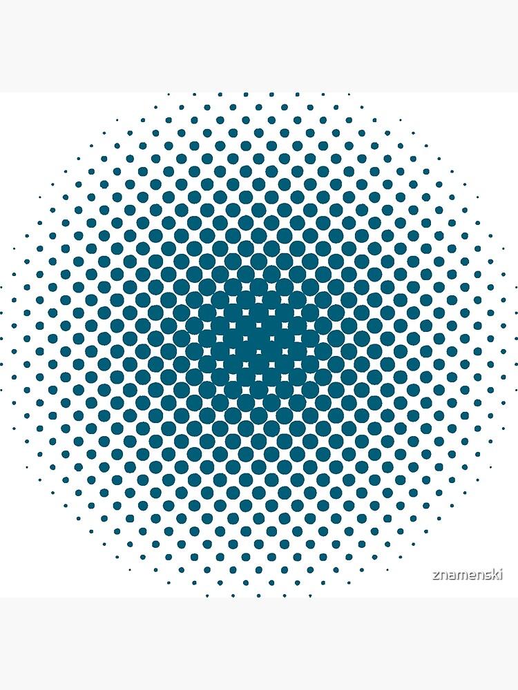 Radial Dot Gradient, Halftone Pattern by znamenski