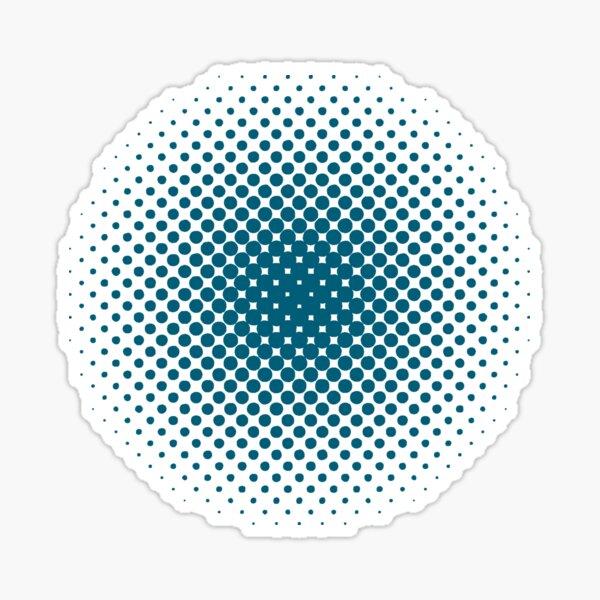 Radial Dot Gradient, Halftone Pattern Sticker