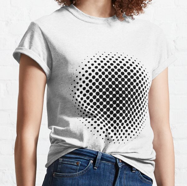 Point Symmetry Halftone Image Classic T-Shirt