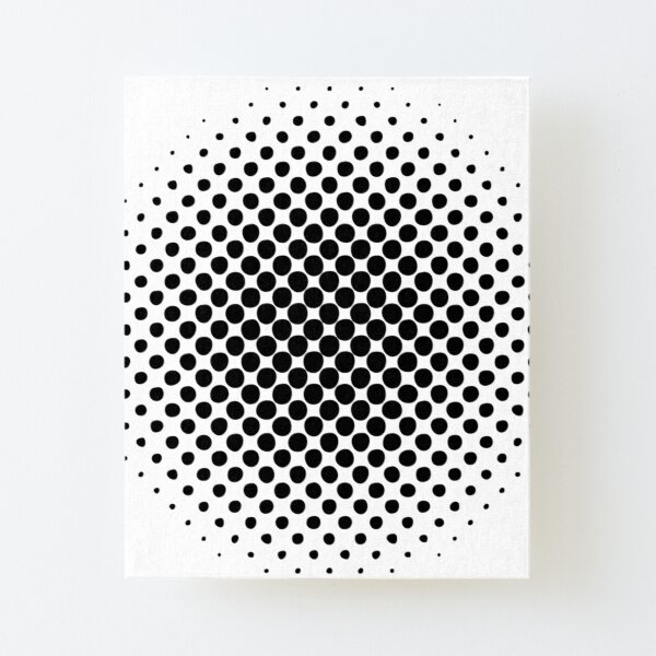 Point Symmetry Halftone Image Canvas Mounted Print