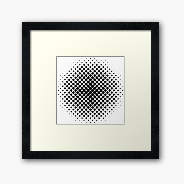 Point Symmetry Halftone Image Framed Art Print