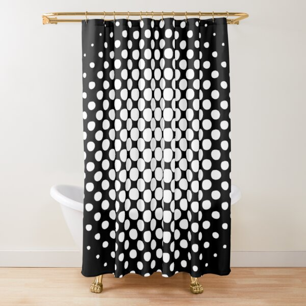 Radial Dot Gradient  Shower Curtain