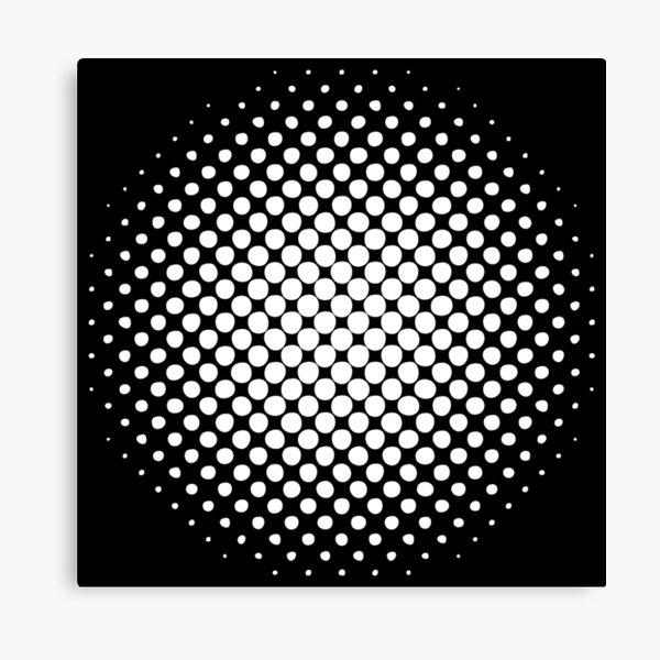 Radial Dot Gradient  Canvas Print