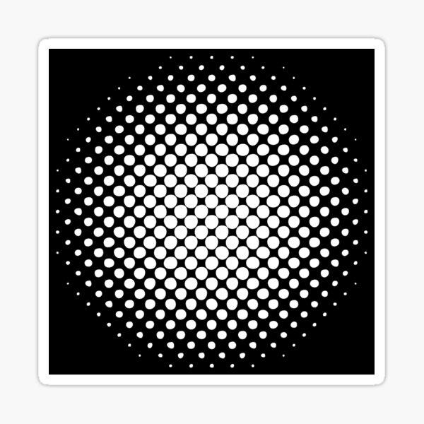 Radial Dot Gradient  Sticker