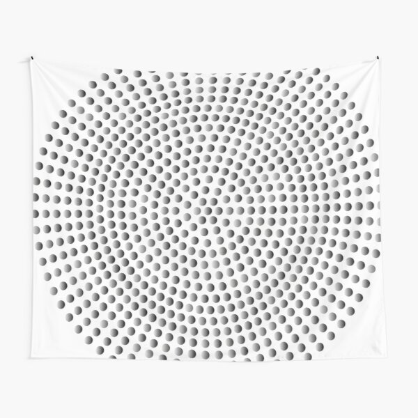 Radial Dot Gradient Tapestry