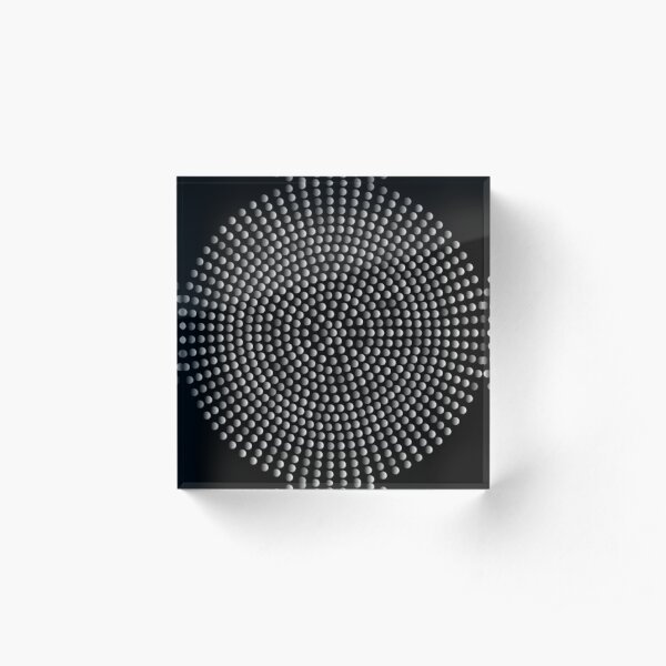 Radial Dot Gradient Acrylic Block