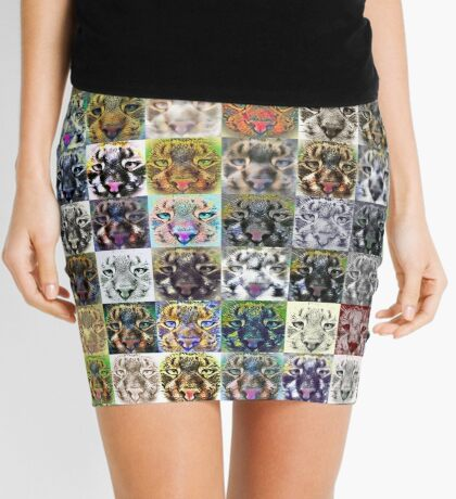 Artificial neural style wild cat Mini Skirt