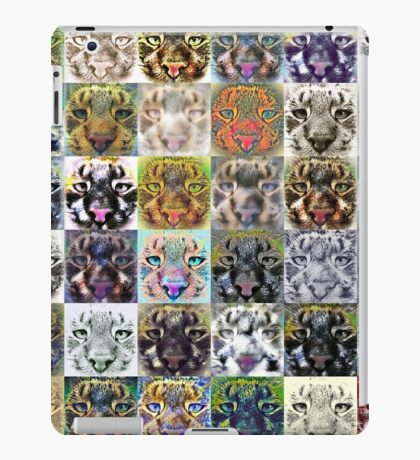 Artificial neural style wild cat iPad Case/Skin
