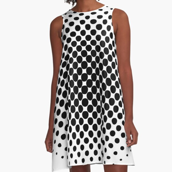 Radial Dot Gradient A-Line Dress
