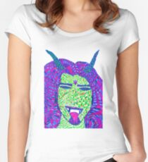 Psychedelic Demon Women's Fitted Scoop T-Shirt