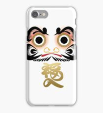 Luck & Good Fortune Daruma iPhone Case/Skin