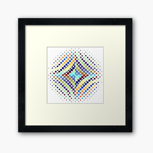 Copy of Radial Dot Gradient Framed Art Print