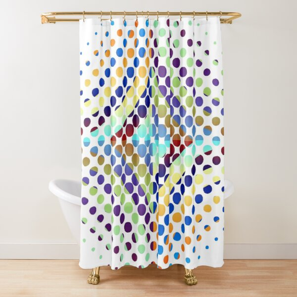 Copy of Radial Dot Gradient Shower Curtain