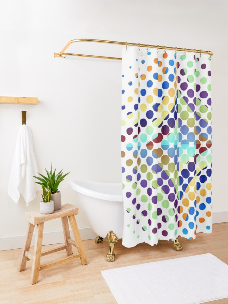 Alternate view of Copy of Radial Dot Gradient Shower Curtain