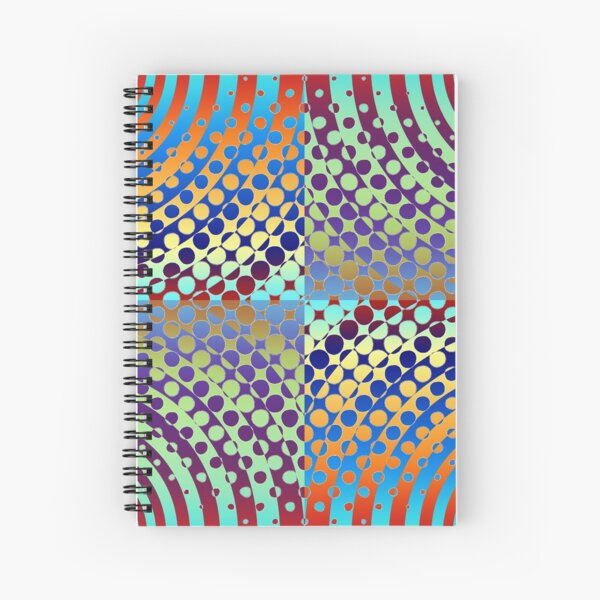 Radial Dot Gradient Spiral Notebook