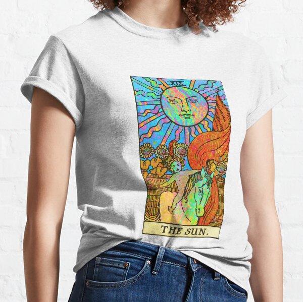 Psychedelic Tarot: Rainbow Sun (No Border) Classic T-Shirt