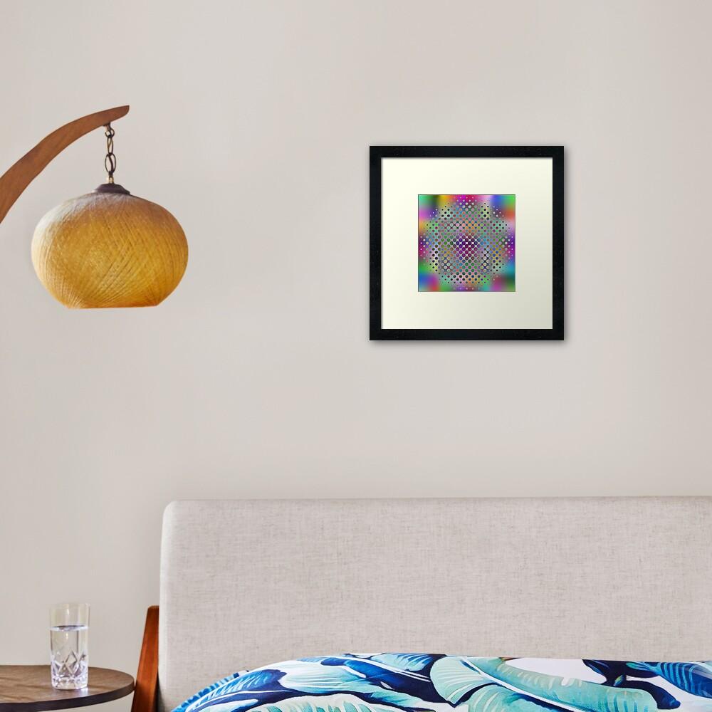 Radial Dot Gradient Framed Art Print
