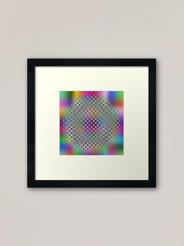 Alternate view of Radial Dot Gradient Framed Art Print