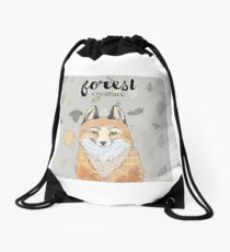 Forest Creature Drawstring Bag