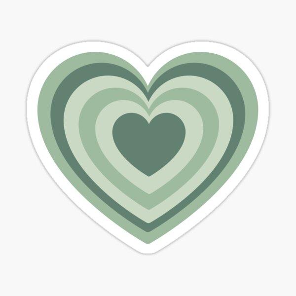 Sage Green Heart Sticker