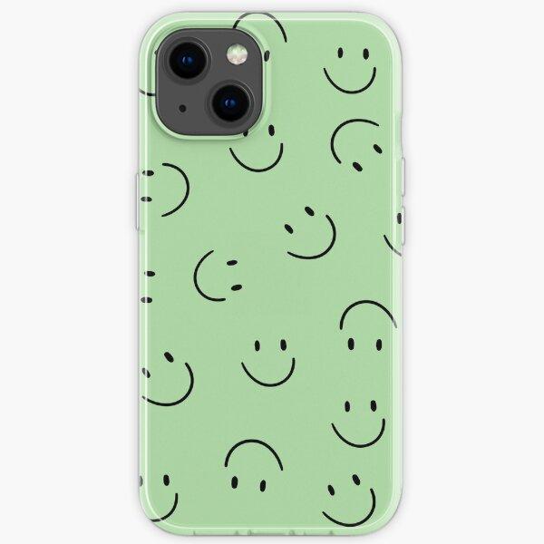 Sea Green Smiley Faces iPhone Soft Case