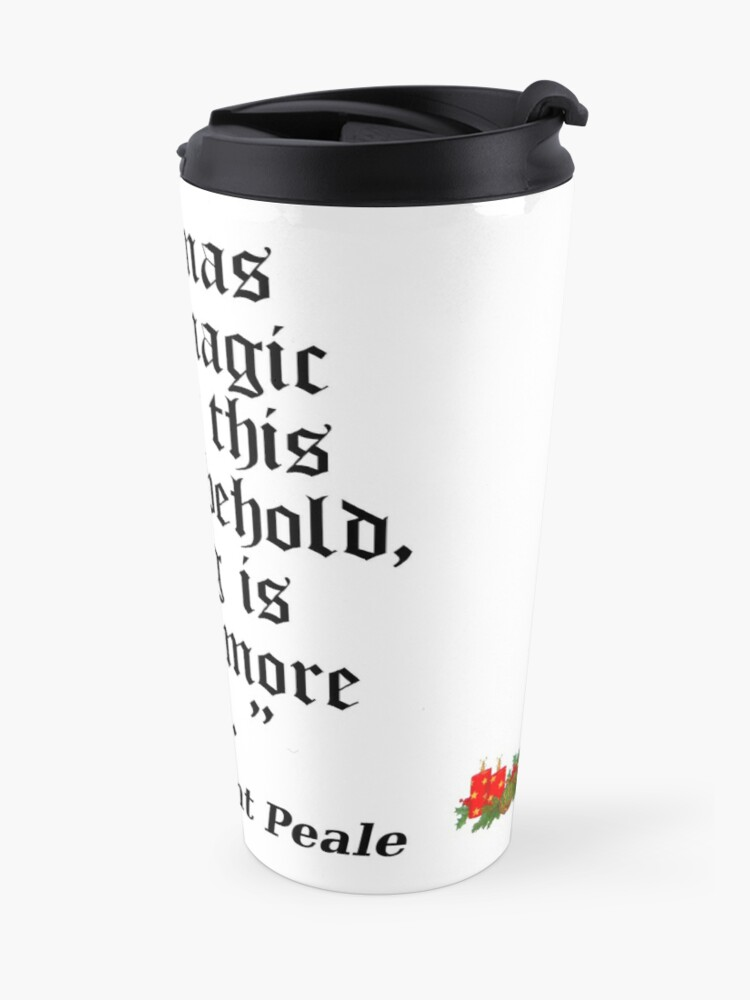 Alternate view of Norman Vincent Peale quote Travel Mug