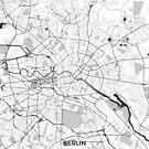 Berliner Karte grau von HubertRoguski
