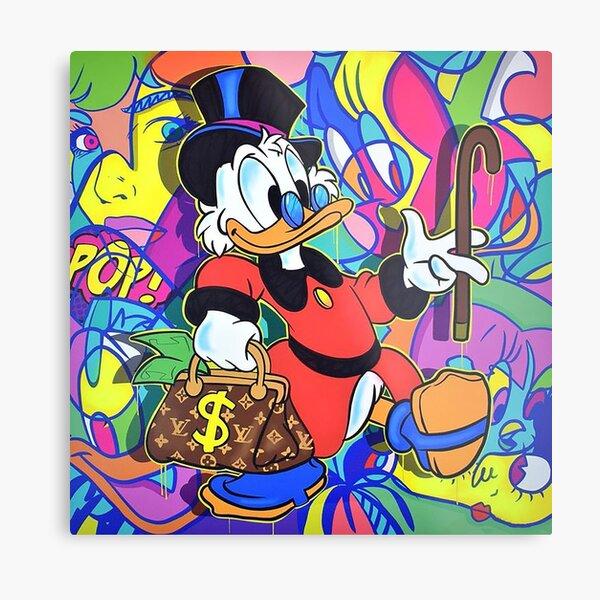 Pop Art Scrooge McDuck Impression métallique