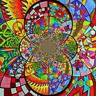 Zentangle Fractal by WildestArt