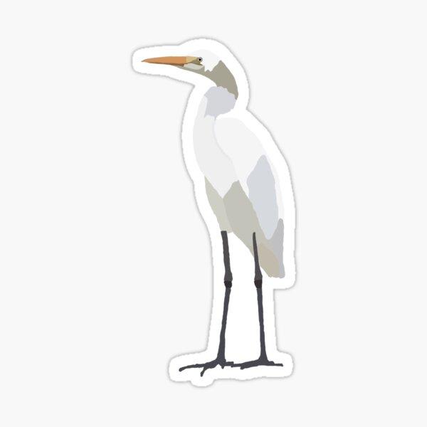 White Egret Sticker Sticker