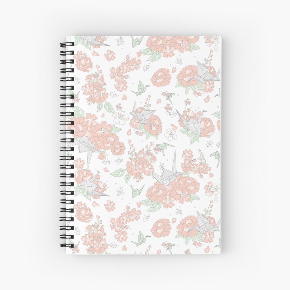 Origami Floral Spiral Notebook