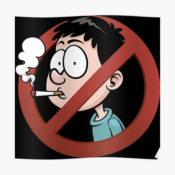 No Smoking Cigarettes Vector Poster
