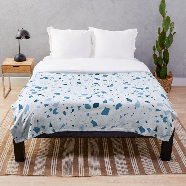 Blue Pink Terrazzo Throw Blanket