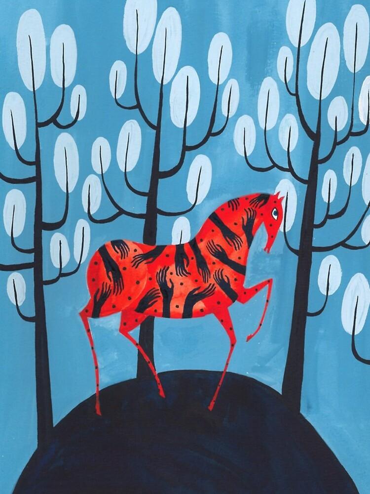 Smug red horse by zsalto
